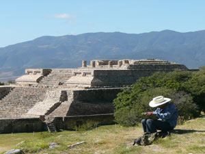 Uitzicht Teotihuacan tempel Mexico